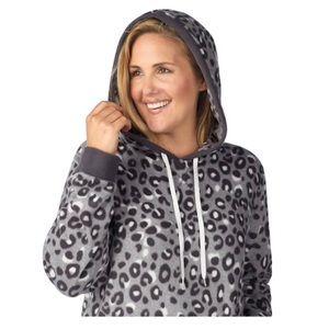 Plus Size Cuddl Duds Hooded Fleece Sleepshirt